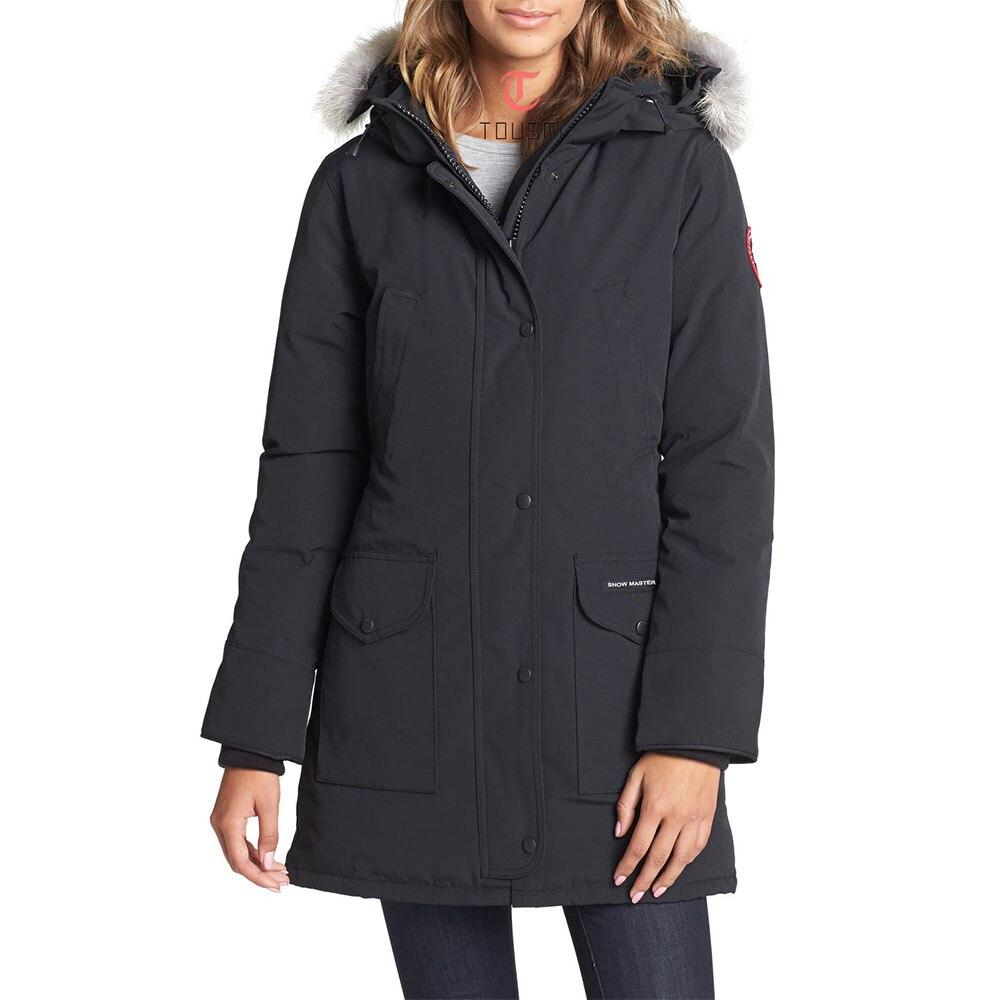 2019 Winter Women Duck Goose Down Long Coat   Parka   Jacket Ladies Overcoat Military Female Wear Hooded Thick Outwear   Parkas   Mujer