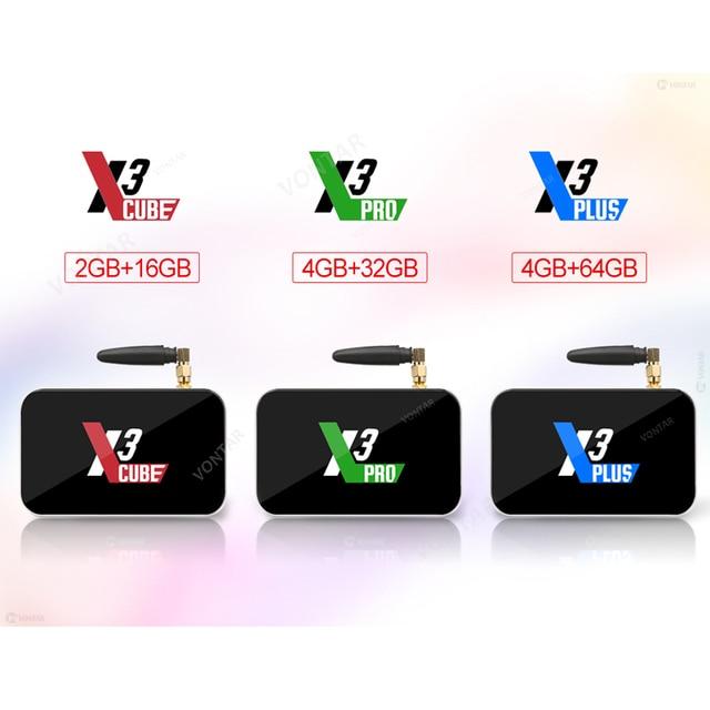 2020 Ugoos X3 PRO TV Box Android 9.0 4GB RAM 32GB X3 Plus 64GB DDR4 Amlogic S905X3 WiFi 1000M 4K X3 Cube 2GB 16GB Set Top TVBox 4