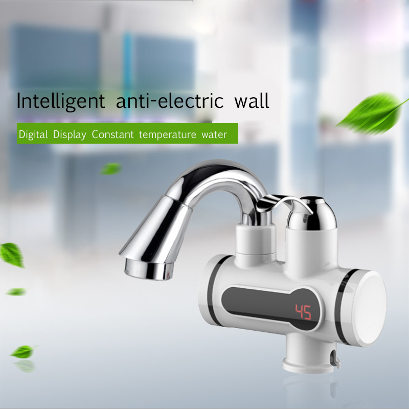 Lead-free Health Hot Faucet Digital Display Hot And Cold Electric Faucet Convenient And Practical Fast Heating Water Tap 220V
