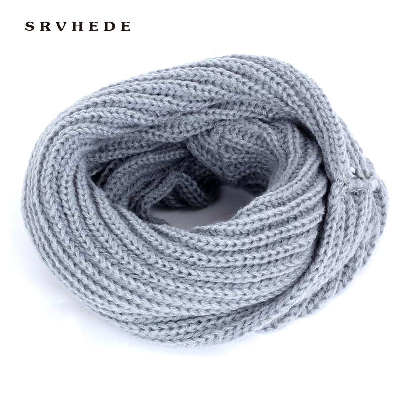 2019 New Children's Solid Color Knit Scarf Winter Fashion Bib Boy Girl Kids Baby Kerchief Wool Cotton Warm Slouchy Fashion