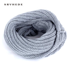 2019 New Childrens Solid Color Knit Scarf Winter Fashion bib Boy Girl Kids Baby Kerchief Wool Cotton Warm Slouchy