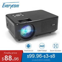 Everycom M8 LED Video mini Projector HD 720P Portable HDMI Option Android Wifi Beamer Support Full HD 1080P Home Theater Cinema