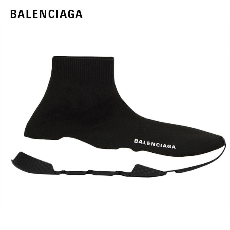 2020 Balenciaga Speed Sneaker Woman Man High Top Running Sports Girls Shoes Knitting Sock Speed Trainer For Men