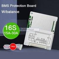 16S 14S 60V 48V 30A 25A 20A 15A Li-ion lithium battery protection board BMS W/ balance Liion lipo 4S 7S 12V 24V 10S 36V 13S