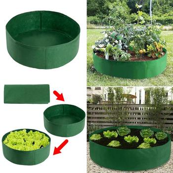 Raised Plant Bed Garden Flower Planter Elevated Vegetable Box Round Planting Grow Bag Pot For Plants Nursery Pot classic pot for planting