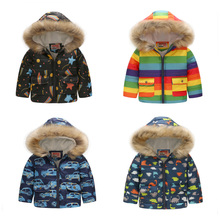 Winter Baby Boys Girls Cartoon Printed Jacket Kids Keep Warm Thick Leopard Hooded Coats Children Girls Outerwear Cotton Clothing 2018 autumn winter baby boy clothes girls bear owl pattern kids cartoon sweaters boys clothing girls clothing thick warm