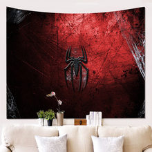 3D Spider Polyester Tapestry Living Room Dust-proof Decorative Wall Cloth Bedroom Blackout Hanging Curtain(China)