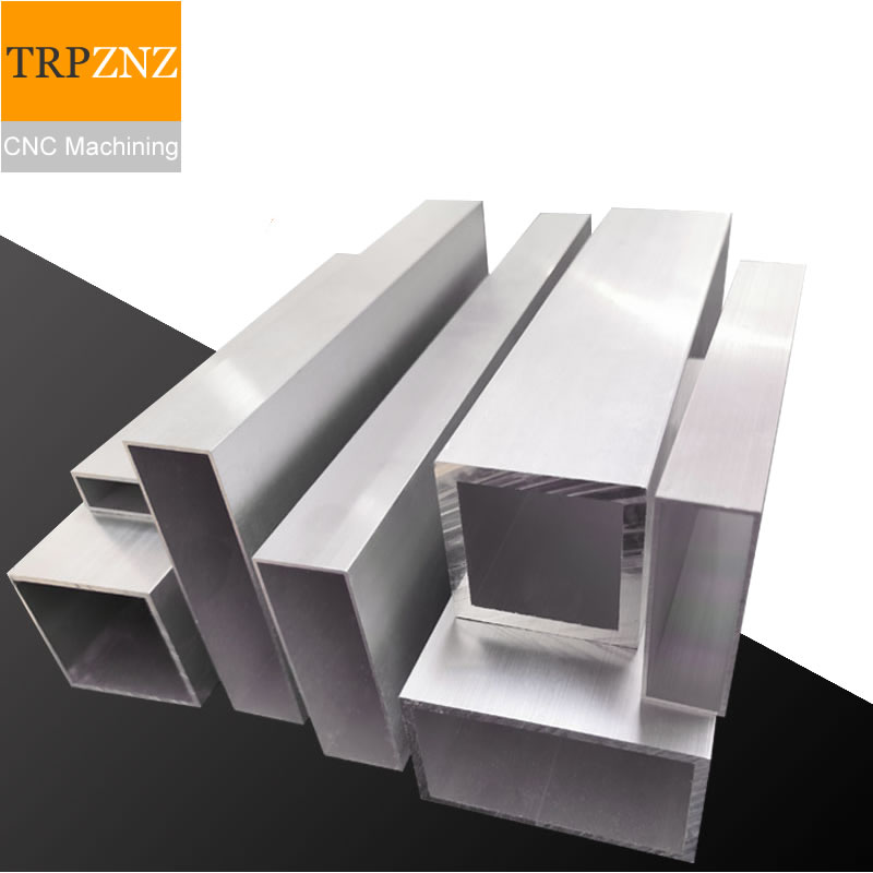 Custom Link,50x60x2mm,60cm Length,2pcs ,Aluminum Alloy Square Tube Profile,Flat Aluminum Pipe,CNC Machining,laser Cutting