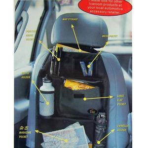 Image 3 - VODOOL Auto Back Seat Organizer Cover Opbergtas Waterdichte Multi Pocket Opknoping Pouch Netto Diverse 58cm x 38cm auto Accessoires