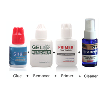 Eyelash Glue Professional Extension Salon Use Cleaner Primer Gel Remover Makeup Tools Kits