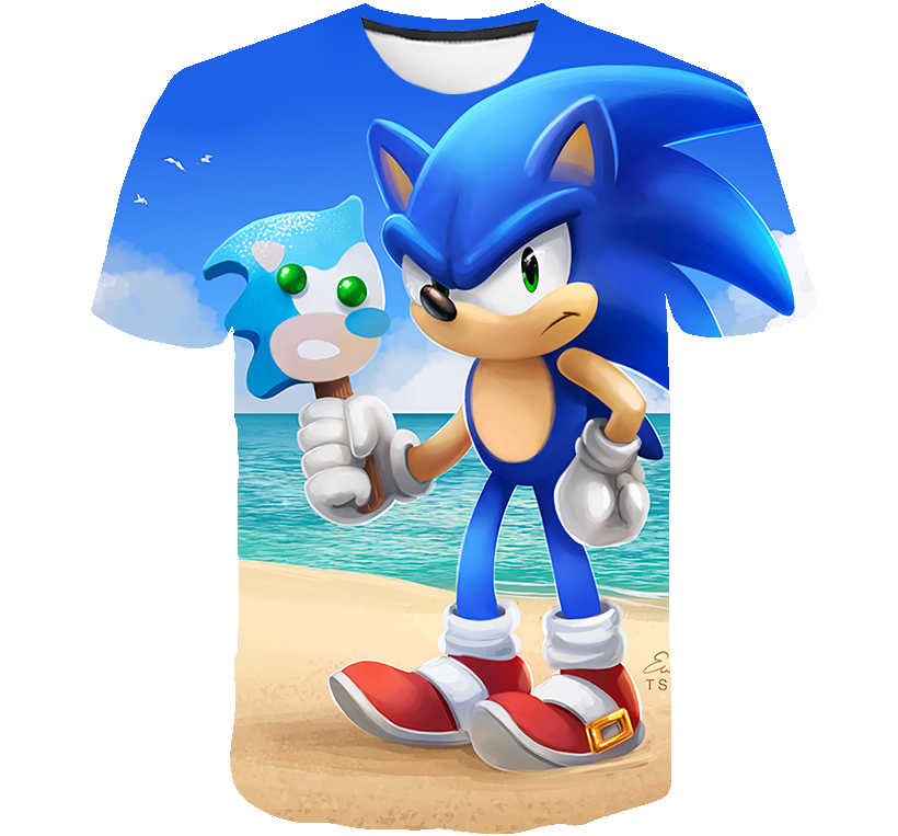 Children Sonic Hedgehog Boys And Girls Top Tee Cartoon Design Fun T Shirt Children S Summer Casual Toddler Clothes Aliexpress