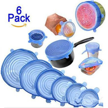 Silicone Kitchen-Accessories for Food Stretch Universal Fresh-Covers Fruit Wrap-Bowl