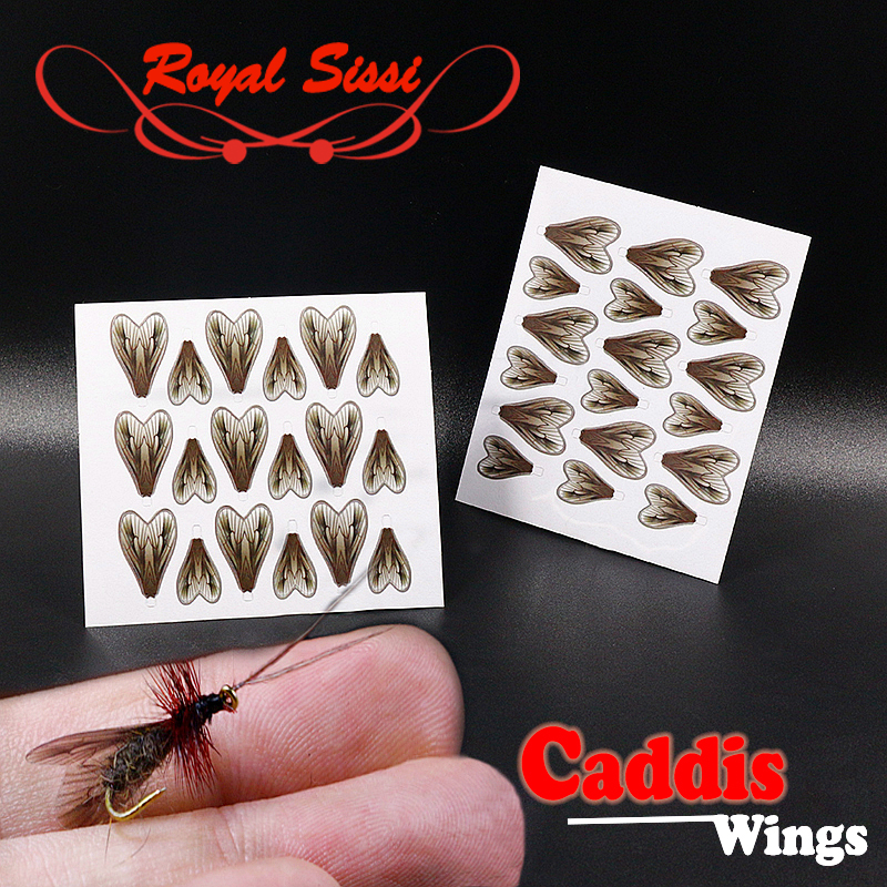 Royal Sissi 36pcs/bag realistic caddis wings 2sizes mixed pre-cut fly tying wings fly tying materials fly fishing trout fly lure