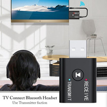 Adaptador Dongle USB Bluetooth 5,0, adaptador inalámbrico Bluetooth 3,5 para coche, PC, ordenador, altavoz, transmisor receptor de Audio y Bluetooth