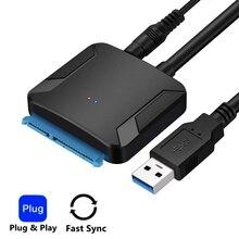 """アダプタの usb 3.0 sata 変換ケーブル 22pin sataiii に USB3 、 0 アダプタのための 2.5 """"sata hdd ssd 高品質高速配信"""