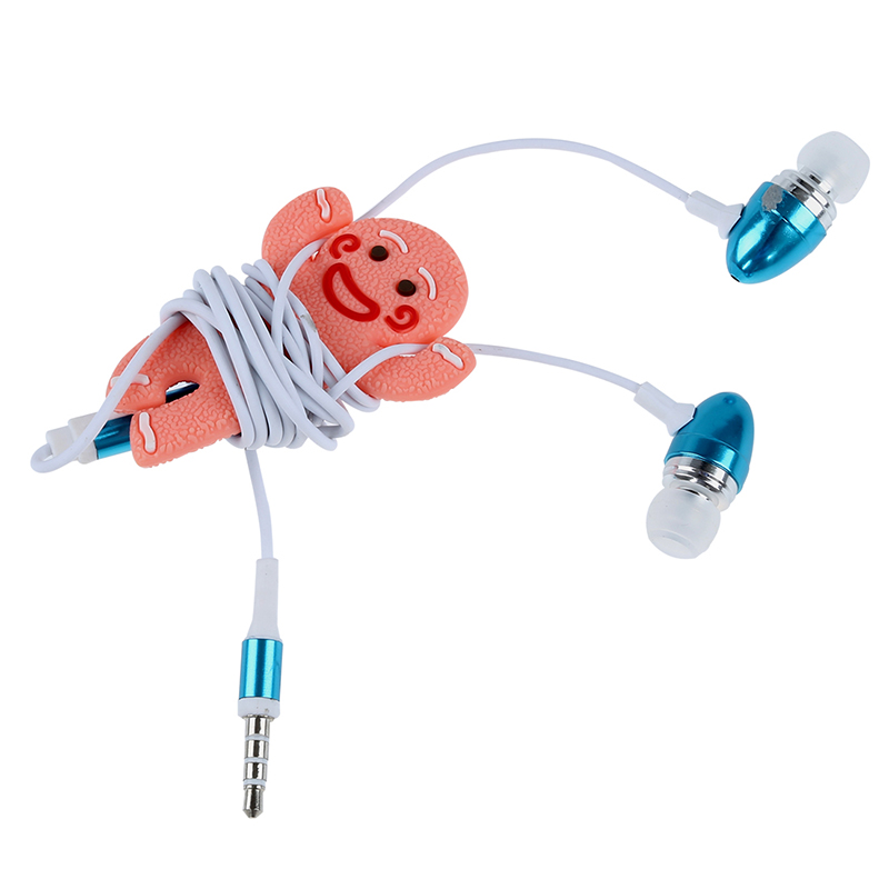 Купить с кэшбэком Gingerbread Man Earphone Cable Wire Headphone Winder Cord Smart Wrap Organizer