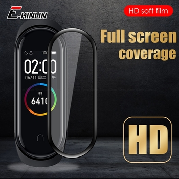 10pcs 99D Curved Full Cover Screen Protector For XiaoMi Mi Band 5 4 NFC Smart Watch Band Soft Protective Film Not Tempered Glass