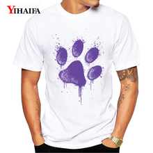 Summer T-Shirt Mens Womens Harajuku Animal Palm Print 3D Print Cartoon Animal Graphic Tees Casual White Tee Shirts Tops animal футболка animal graphic p05 12
