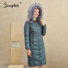 Padded Jacket Coats Long Warm Fashion-Design Winter Women Female Elegant New-Brand Simplee