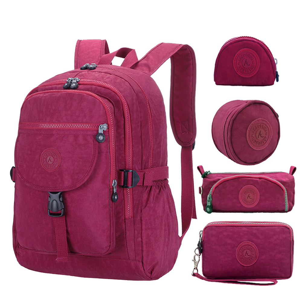 5pcs/set ACEPERCH Girls Teenagers School Bags Boys School Backpack Women Daypack Backpack Student Travel Laptop Backpack Mochila