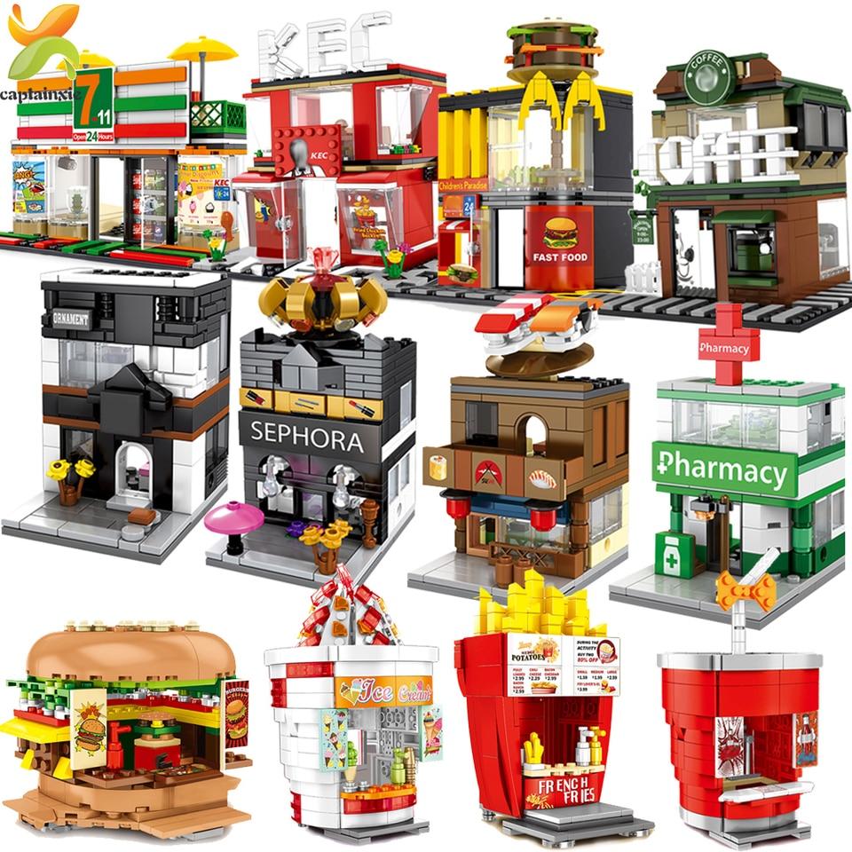 City Street Sports Goods Shop Store Mini Blocks Building Brikcs View Model Toy