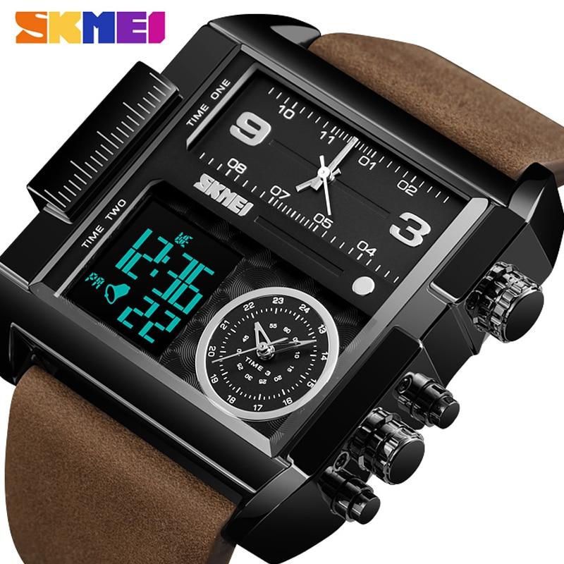 Masculino à Prova Skmei Luxo Topo Masculino Quartzo Analógico Digital Esportes Relógios Moda Militar Preto Relógio Dwaterproof Água