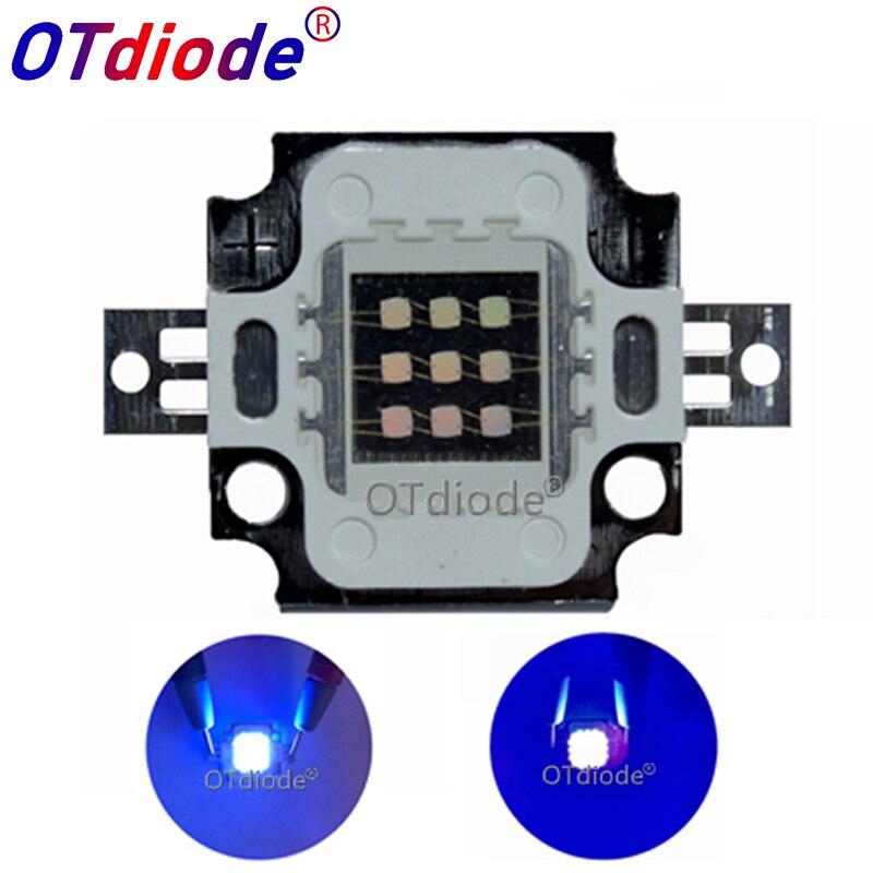 1PCS 10W UV High Power Light Chip Lamp Fishing LED  Purple Diode 395nm 385nm 350mA 27-32V For Uv Glue Curing Light