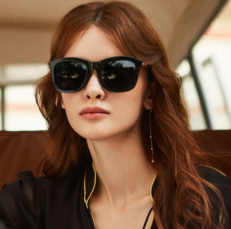 Image 2 - PARZIN Fashion Polarized Sunglasses Women Lovers Beach Sun Shade Luxury Brand Driving Sun Glasses Retro Square Lens UV400-in Women's Sunglasses from Apparel Accessories