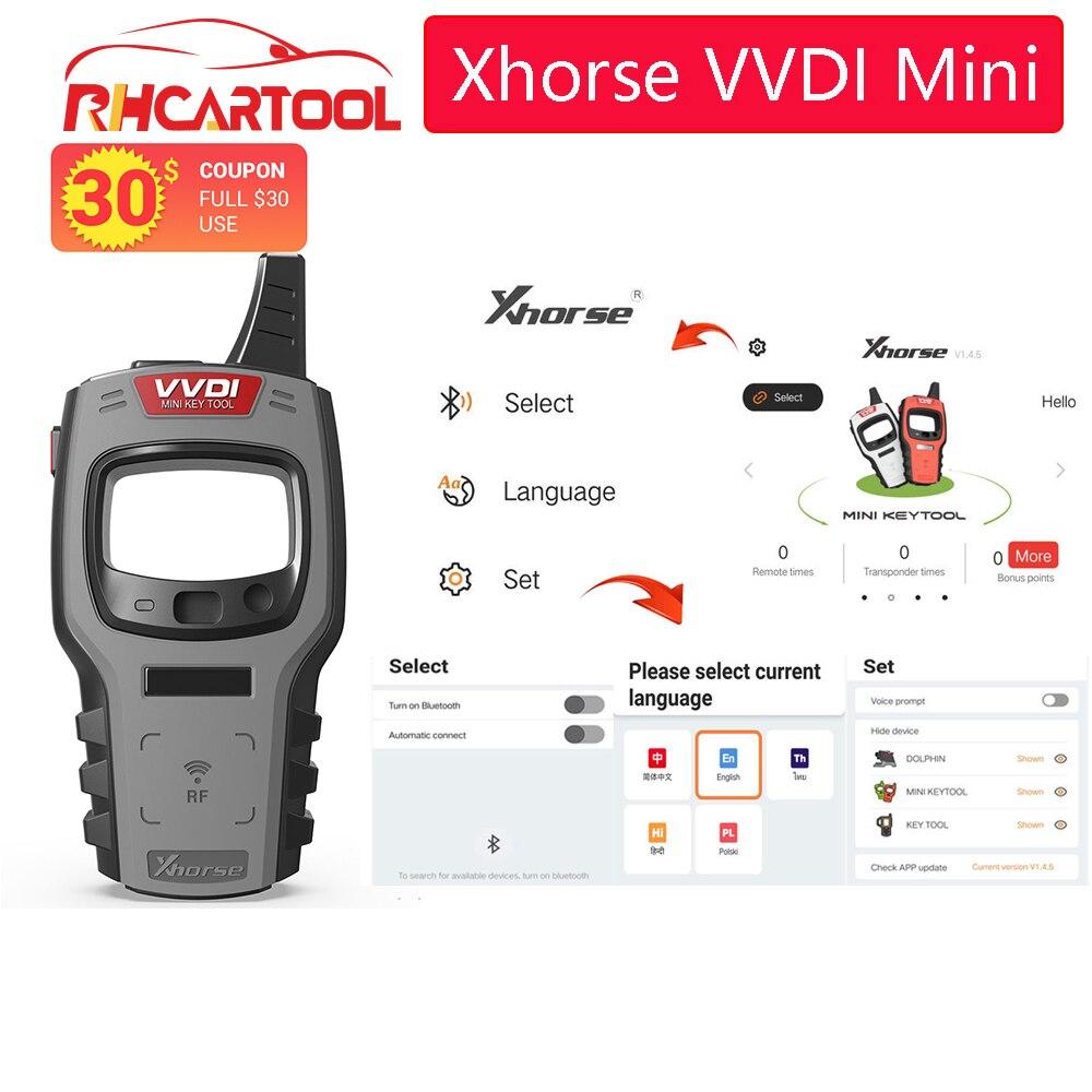Xhorse VVDI Mini Schlüssel Werkzeug Remote Key Chip Programmierer Globale Version für Alle Auto mit ID48 96bit und Ein Token freies Tägliche