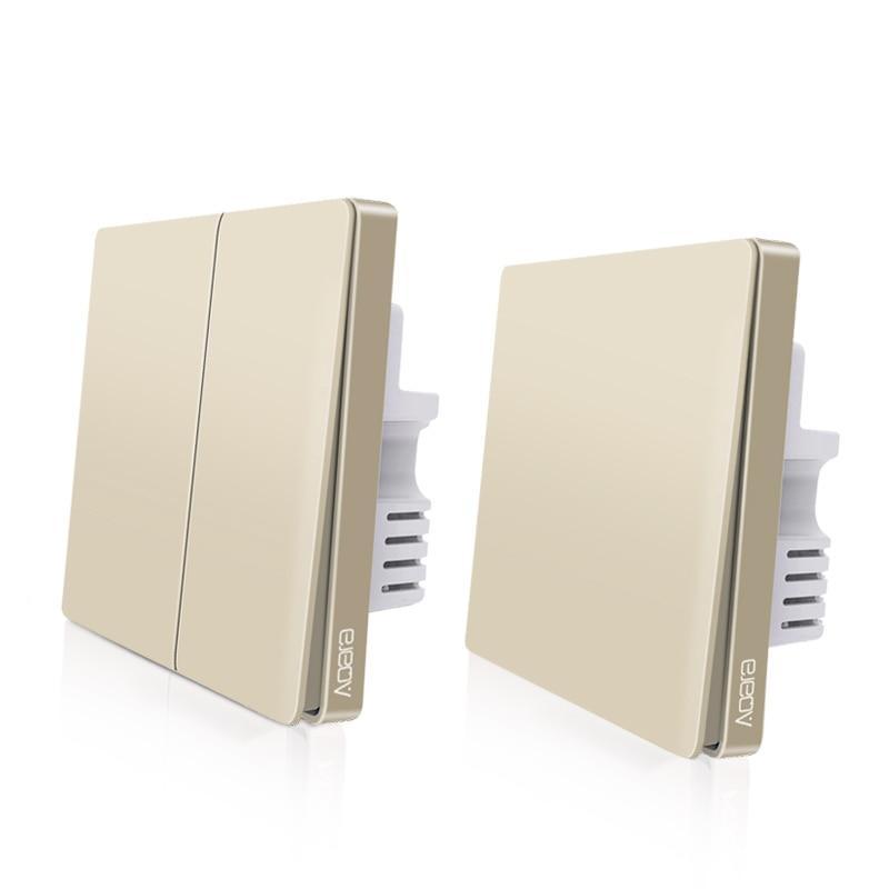 Image 2 - Original Aqara Switch Wall Device Smart Light Switch Remote Control Single Fire/Zero Line ZigBee For Mijia Mi Home GoldSmart Remote Control   -
