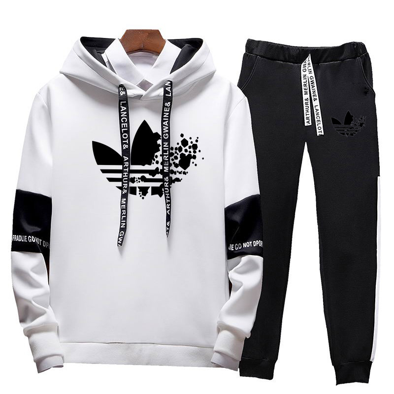 New Brand Sportswear 2019 Fashion Spring And Autumn Hoodies Men's Casual Sportswear Two-piece + Pants Sports Suit Men