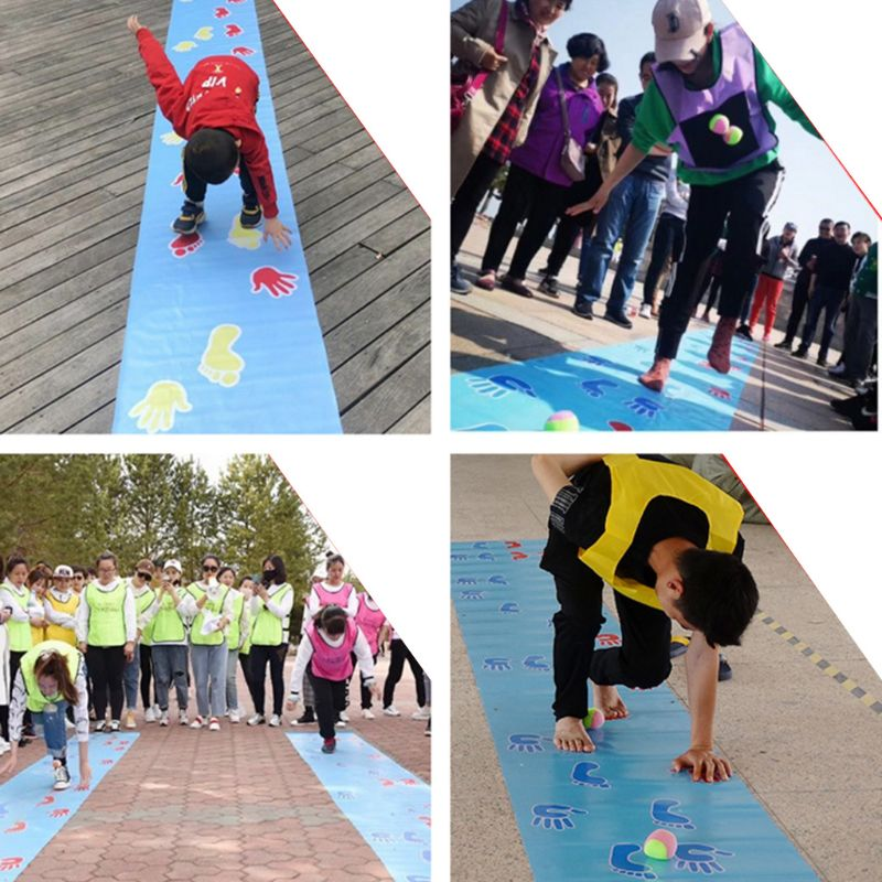 Hands And Feet Game Pad Team Expand Props Outdoor Training Group Building Fun Game Pads Children Kids Games Toy Mat P31B