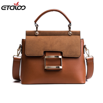 Women Bag Vintage Shoulder Bags 2020 Buckle PU Leather Handbags Crossbody Bags For Women Famous Brand Spring Women's Bag 2017 soft leather lattice stitching 3 layers of space women tote bags handbags women famous brand casual crossbody bag