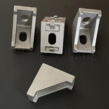 50pcs 2028 Black and Sliver Bracket Aluminum Profile Corner Fitting Angle for 2020 Aluminum Profile 3d Printer Parts cheap OPEN SOURCE Hardware Parts Machine Parts 2028 Aluminum Profile Corner Fitting Angle