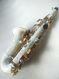 Image 2 - Yeni yüksek kaliteli soprano saksafon Beyaz saksafon Kavisli soprano saksafon Komple parçaları