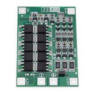 Image 5 - 3S 40A Li ion cargador de batería de litio Módulo de célula Lipo PCB Placa de protección BMS para Motor de taladro 12,6 V con Balance