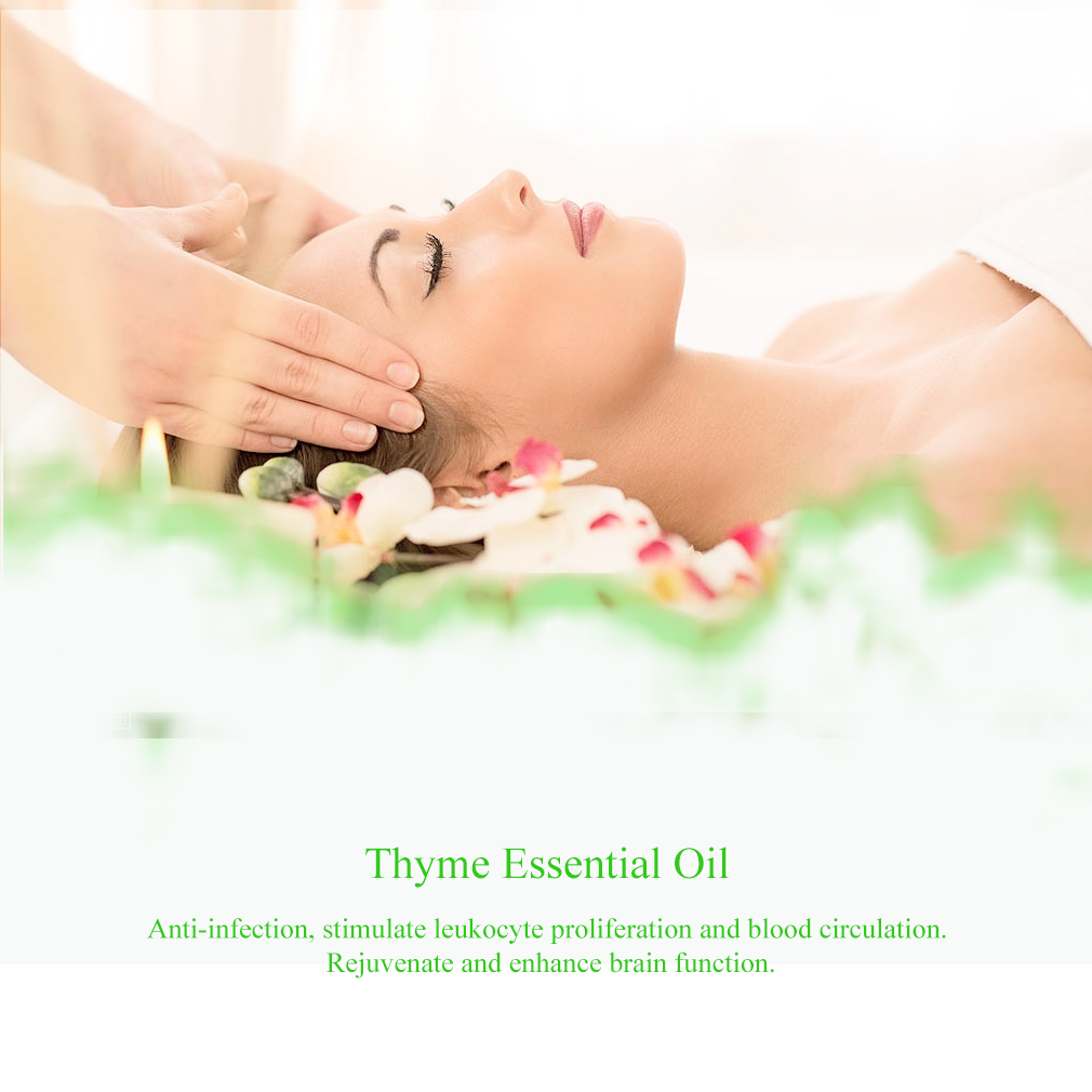 10ml Thyme Essential Oil For Diffuser Burner Organic Relieve Stress Air Freshening Humidifier Oil 100% Pure Natural Oil