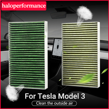 New Car Air Filter For Tesla Model 3 S X 2021 Accessories Activated Carbon For Tesla Model Three Model3 Accessory