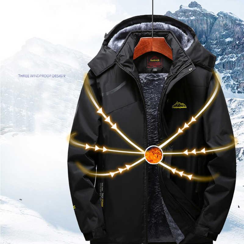 Мужская лыжная куртка и Женская водонепроницаемая флисовая зимняя куртка с теплой подкладкой для улицы ветрозащитная походная лыжная куртка для сноуборда