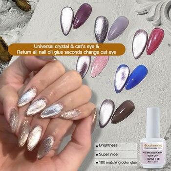 12 Colors Magnetic Nail Polish Gel Blinking Cat Eye Series Gel Nail Polish Soak Off Nail Art Gel Polish UV Gel Varnish TSLM1 недорого
