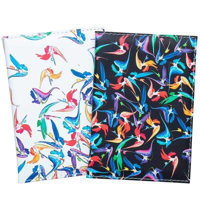 Zoukane Striped Birds Pterosaur Color Lines Passport Cover Case Card Holder Travel Accessories Colorful Passport Wallet ZSPC24