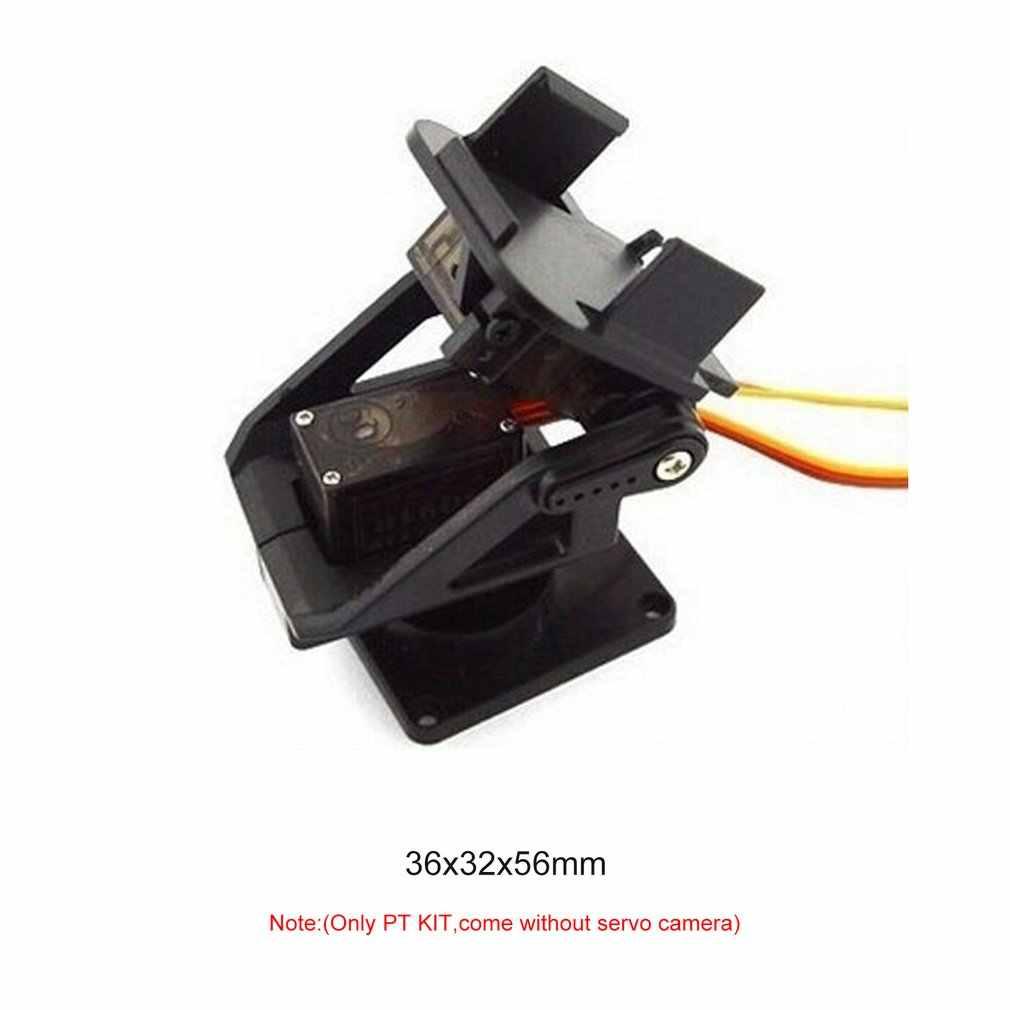 1 juego/lote PT Pan/Tilt Micro plataforma de dos ejes de dirección para cámara de avión FPV dedicado Nylon PTZ para 9G Servos SG90