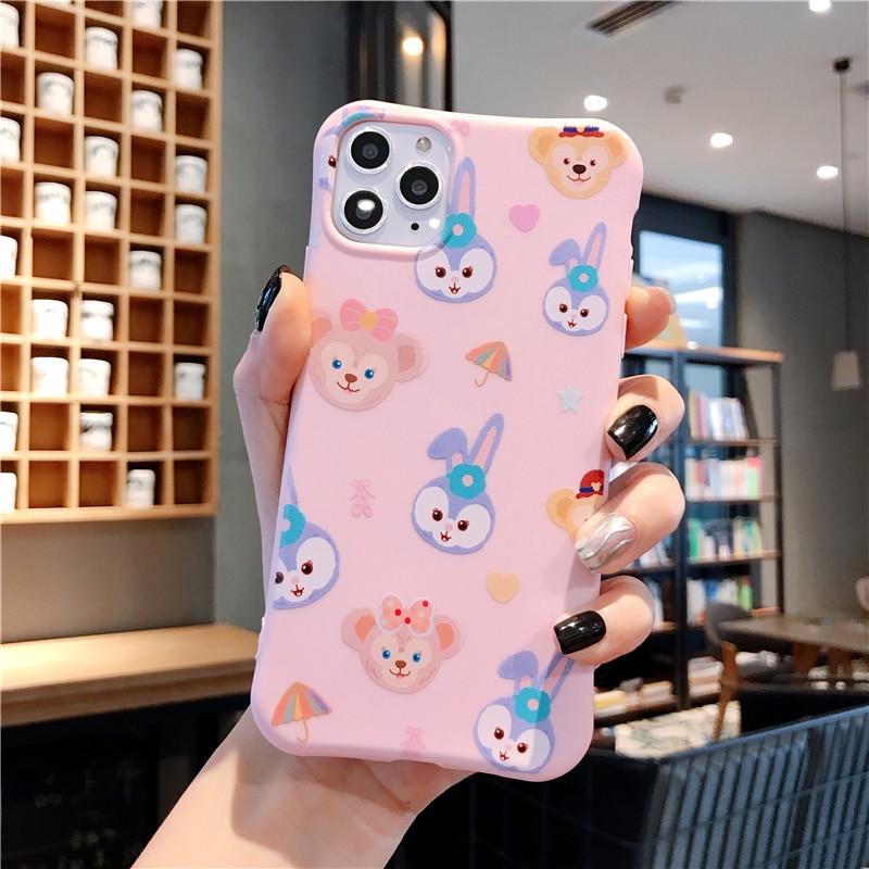 Cartoon Small Waist Case For Iphone 11 Pro Max XS XR X 6 6S 7 8 Plus Back Cover Soft TPU Cute Pattern Anti-Fall Girl Capa