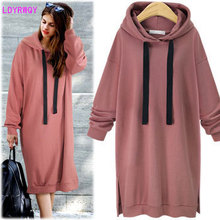 2019 autumn and winter fashion new European and American style hooded collar lantern sleeves long loose casual dress 2019 new style european and american autumn and winter thickening cashmere sweater women s sleeves top collar short sleeves
