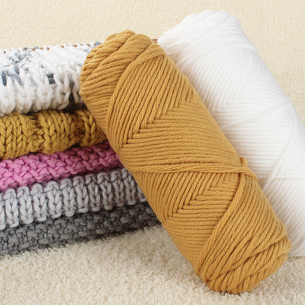 Soft Crochet Knitting Yarn Baby Knit Wool Yarn Warm Wool sequins for Scarf Glove