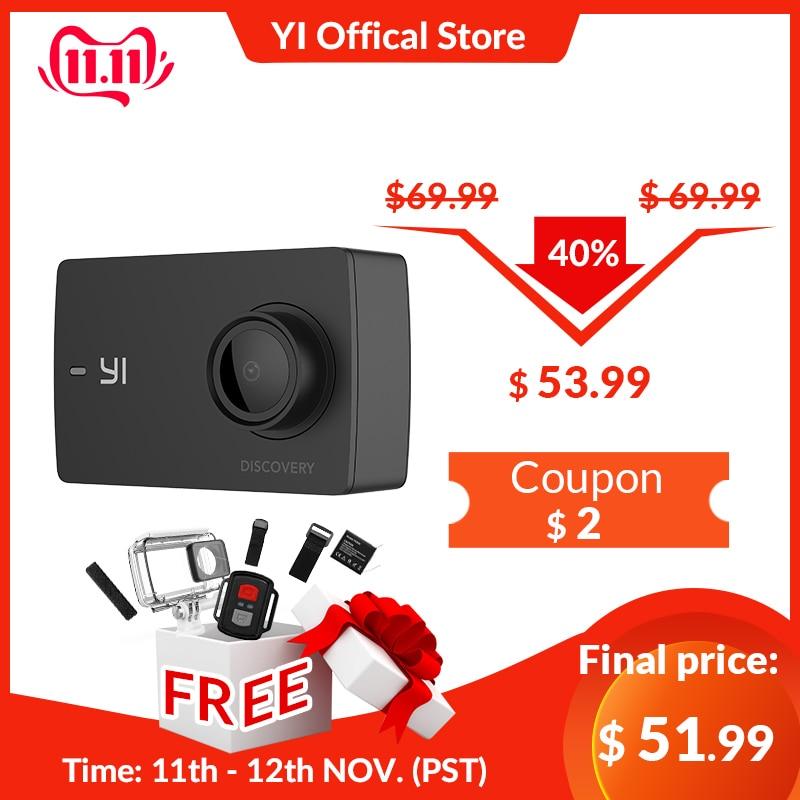 YI Discovery caméra d'action 4K 20fps sport Cam 8MP 16MP avec 2.0 écran tactile intégré Wi-Fi 150 degrés Ultra grand Angle