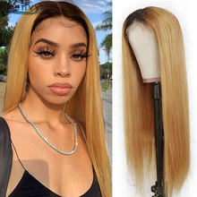 i-envy Ombre Honey Blonde Lace Front Human Hair Wigs 13X1 Pa