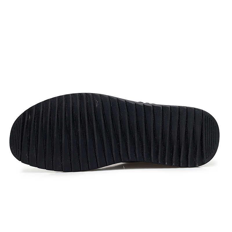 2019 Nieuwe Mannen Schoenen Winter Warm Lederen Hoge Kwaliteit Mocassins Loafers Comfortabele Mannelijke Vlakke Toevallige Rijden Schoenen Big Size 48