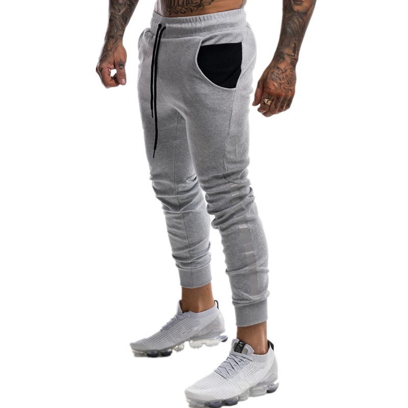 Men Gym Jogging Sweatpants Bodybuilding Workout Pants Men Fitness Trousers Running Outdoor Cycling Fashion Trends Trackpants