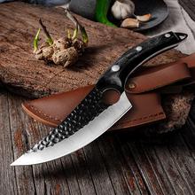 CHUN Handmade trybowanie nóż kuchenny 5Cr15Mov zestaw noży wędkarskich ze stali nierdzewnej odkryty serbski gotowanie rzeźnik tasak tanie tanio CN (pochodzenie) STAINLESS STEEL Ekologiczne Ce ue Lfgb Trybowanie noże 27 3cm 14 6cm 245g 55-58 HRC Home Kitchen Bar Restaurant Picnic